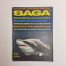 Vintage SAGA Men's Magazine August 1969 Cuba Missiles Jacqueline Bisset Inca