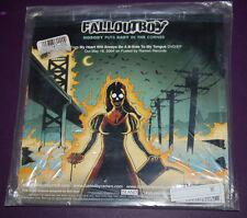 """NEW Fall Out Boy split single 7"""" white vinyl AutoPilot Off pop punk Pete Wentz"""