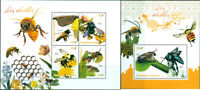 BEES INSECTS FAUNA FLOWERS FLORA MNH STAMPS SET