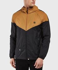Pretty Green Contrast Colour Hooded Men's Jacket Black/Gold - Small to 2XL