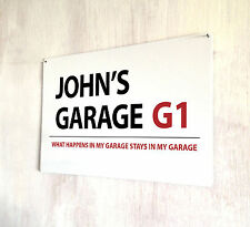 Personalised Garage sign A4 metal plaque