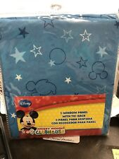 Mickey Mouse Clubhouse 1 Curtain Window Panel W/ Tie Back 41W X 63L Multiples