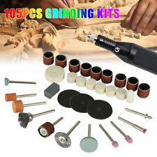 105pcs Mini Electric Drill Grinder Rotary Power Tool Grinding Polishing Set