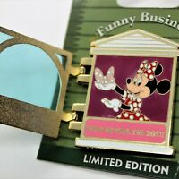 Disney Pin Funny Business Minnie Mouse Bow Emporium Le 1000