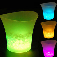 LED Ice Cube Container Bottle Cooler Ice Bucket Champagne Cooler Wine Cooler