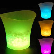 Neu LED Eiswürfel Flaschenkühler Eiswürfel Eiseimer Sekte Kühler Wein Pop