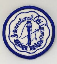 "Vintage Iol International Old Laces Blue & White Round Patch 2-1/4"" Diameter New"