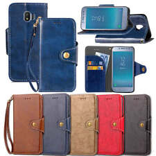 For Samsung Galaxy J2 pro 2018 Business PU Leather Wallet Card Slots Case Cover