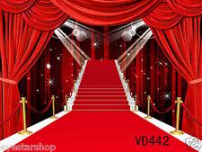 Red Carpet vinyl Backdrop Background photography studio Photo props 5X3FT VD442