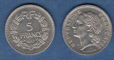 5 Francs Lavrillier 1937 TTB+ Nickel - III République, 1871 - 1940