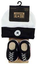 Converse All Star Baby Chucks Schwarz Weiß Socken und Mütze 0-6 Monate