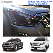 Chrome Front Head Lamp Light Cover For Isuzu D-Max Holden 1.9L 4x2 4x4 2016 2017