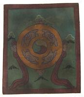 Tsakli Ruota Dharma Quadro Iniziatico Lama Tibetano Mongolia Tibet 6234