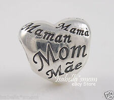 MOTHER'S HEART 100% Authentic PANDORA Mom DAY Charm/Bead 791112 NEW