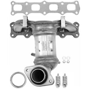 Exhaust Manifold with Integrated Catalytic Converter-Direct Fit Front 20417