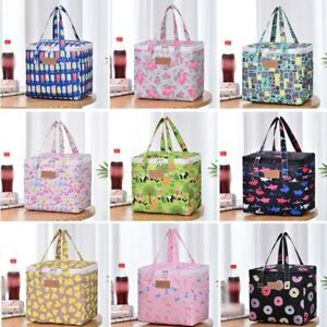 Large Lunch Bags Insulated Cool Bag Adults Kid Childrens Box School Lunch Picnic