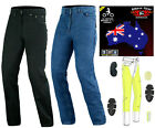 Australian Bikers Gear Mens Motorcycle Motorbike Jeans Trouser lined with Kevlar