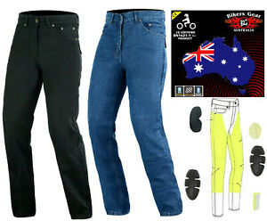 Australian Bikers Gear Mens Motorcycle Motorbike Jeans Trouser lined with Kevlar