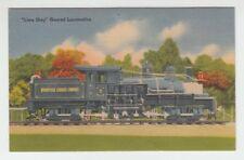"[B67836] Old Postcard ""Lima Shay"" Geared Railroad Locomotive"