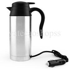 12V Car Cup Mug Tea Coffee Water Auto Electric Heater Mug Kettle Stainless Steel