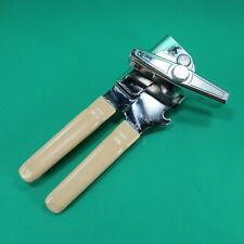 "New listing Swing Away Manual Can Opener Almond Tan Grips Bottle Opener 7"""