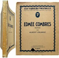 Edmée Combres 1927 Albert Erlande Pierre Girieud Cahiers d'Occident n°7 Maritain