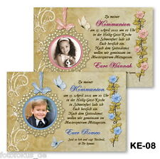 10 St. Invitation Cards, Photo Cards for communion confirmation with photos + Envelope
