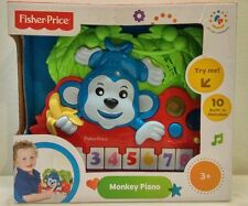 fisher price monkey piano 10 built in melodies New in box 2014 boys & girls 3+