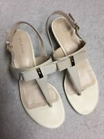 Cole Haan Women's Ivory Leather Ankle Strap Dress Sandals Shoes Size Sz 7.5 B
