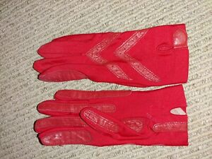 Vintage Ladies Isotoner Thinsulate Red Gloves 85/15 Philippines One Size