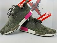 Adidas NMD R1 Primeknit Shoes Mens Size 10.5 PK Camo Pink BZ0222 Camouflage