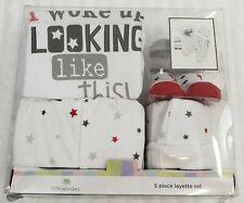 Little Wonders box set 3 - 6 months creeper socks cap pant unisex