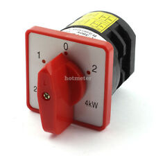 Latching 4KW 8 Terminal 3 Position Cam Combination Changeover Switch AC 380V 20A