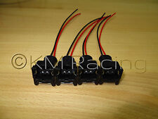 (4x) EV1 Fuel Injector Quick Disconnect Pigtails (Bosch DSM Ford Siemens Deka)