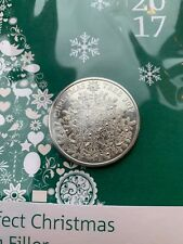 Royal Mint Christmas Tree £5 Coin New Sealed Xmas Card Brilliant Uncirculated BU