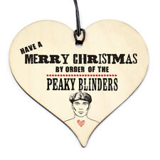 #794 CHRISTMAS Gift By Orders Peaky Blinders Plaque Sign Friendship Wood Heart