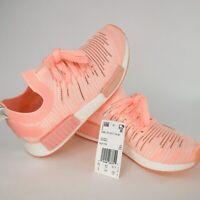 Adidas Originals NMD_R1 STLT Running Primeknit Boost Clear Orange Women Sz 6 NIB