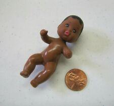 "Vintage Mattel Barbie AFRICAN AMERICAN BABY KRISSY 3"" Doll 1985 Happy Family"