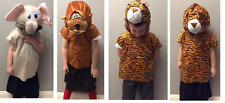 Fancy Dress Kids Animal Costumes - Elephant Monkey Tiger - Tabard and Headpiece
