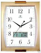 Office Analog Digital Quiet Wall Clock Date Display-0506 Gold