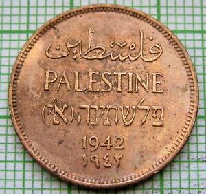 PALESTINE 1942 ONE MIL, BRONZE