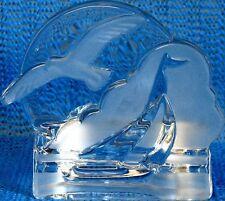 Party Lite Sea Gull & Sailboat Glass Tea Light Holder
