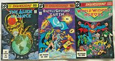 INVASION#1-3 NM LOT 1988 TODD MCFARLANE DC COMICS
