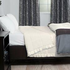 Lavish Home Lightweight Down Alternative Full/Queen Blanket White and Cream