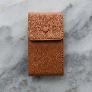 Genuine Calfskin Leather Watch Travel & Storage Pouch