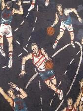 Mens Necktie Basketball Players Shooting Passing & Dribbling Towncraft Sport (O)