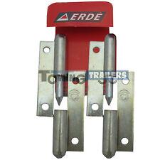 Genuine Erde 09191018 Tailgate Hinge set for Erde 102 trailer