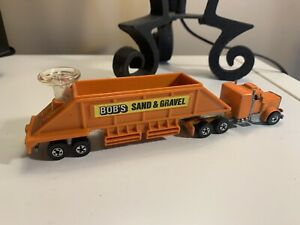 ESTATE FIND! Hot Wheels Blackwall BOB'S SAND & GRAVEL Steering Rigs EXC COND