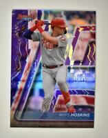 2020 Bowman's Best Base Purple #27 Rhys Hoskins /250 - Philadelphia Phillies