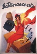 """TARGA VINTAGE """"LA RINASCENTE 1920"""" Pubblicità, Advertising, Poster, Plate, Retro"""